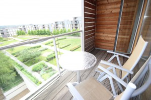 Vizion Penthouse serviced apartment in Milton Keynes with balcony.