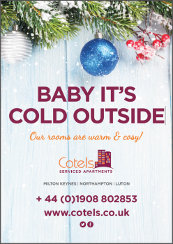 Cotels Christmas Serviced Apartment poster for stays in Milton Keynes