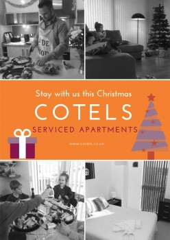 Images displaying Christmas accommodation in one of Cotels serviced apartments